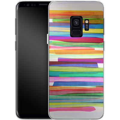 Samsung Galaxy S9 Silikon Handyhuelle - Colorful Stripes 1 von Mareike Bohmer