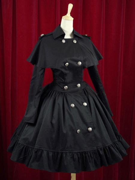 Milanoo Botones de WASP-waisted algodon elegante vestido de Lolita