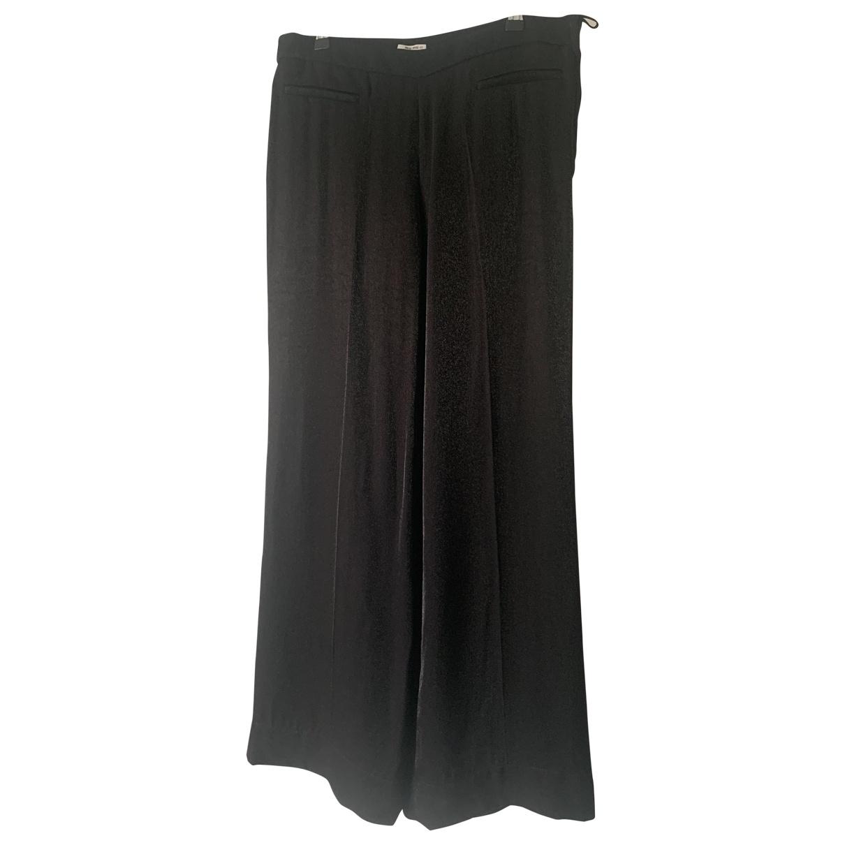Miu Miu \N Black Trousers for Women 40 IT