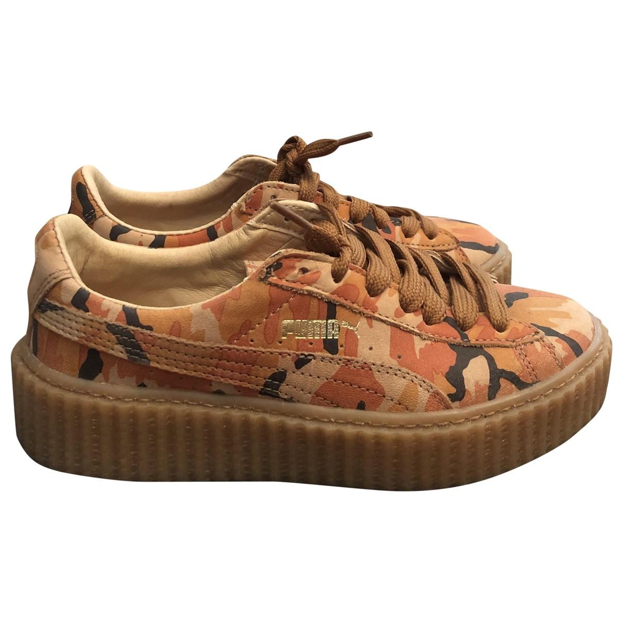 Fenty X Puma \N Sneakers in  Orange Leder