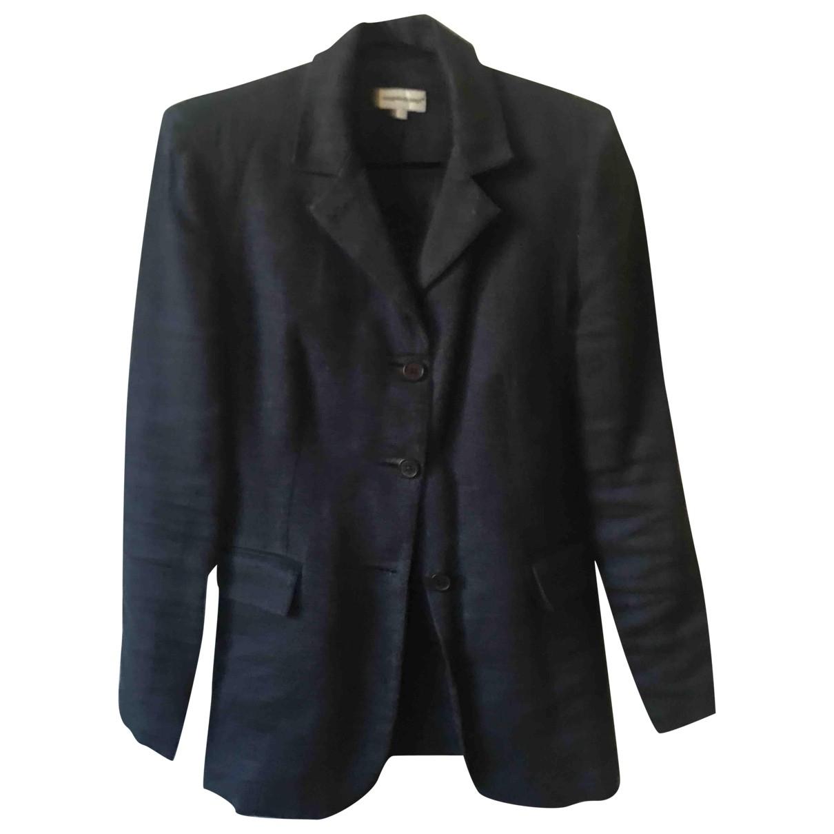 - Veste   pour femme en lin - bleu
