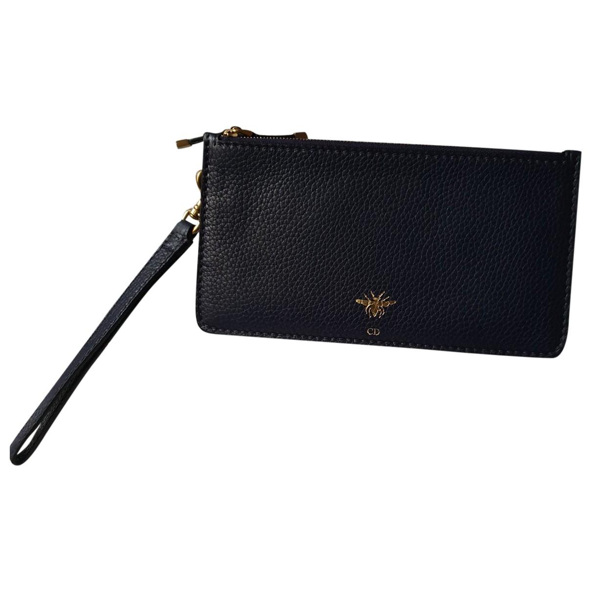 Dior \N Navy Leather Clutch bag for Women \N
