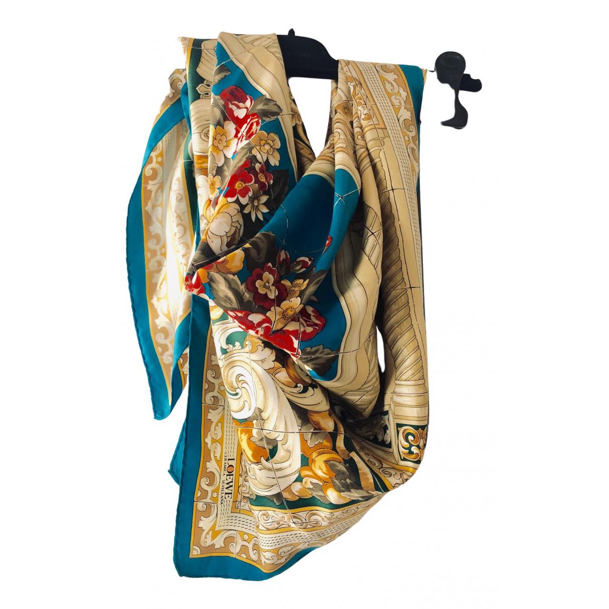Loewe \N Turquoise Silk scarf for Women \N