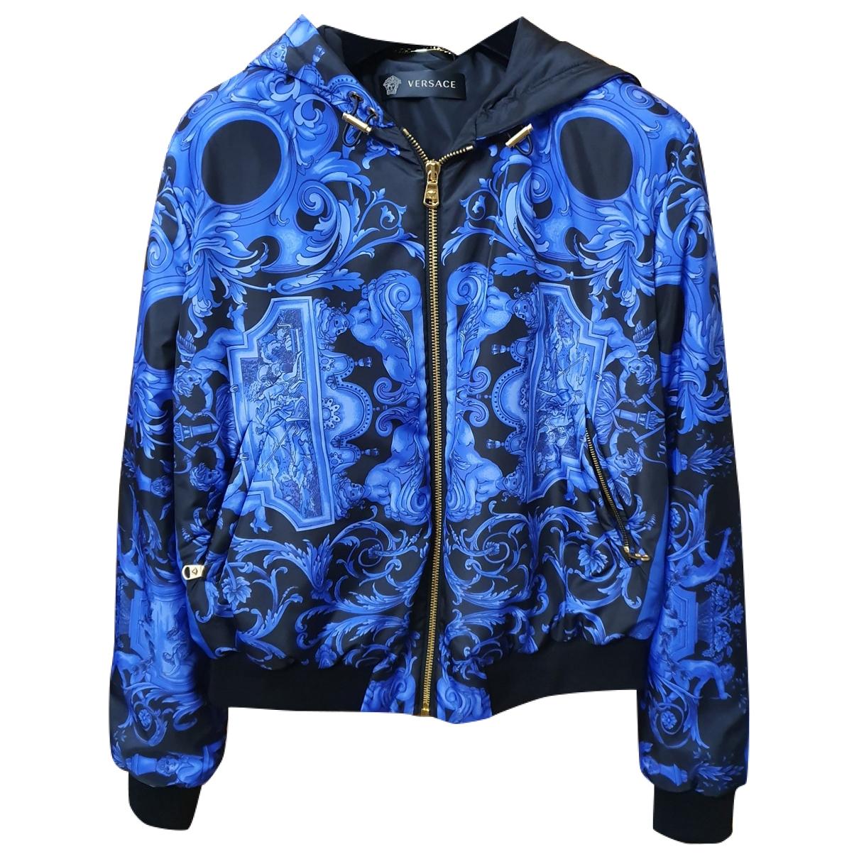 Versace \N Jacke in  Blau Polyester