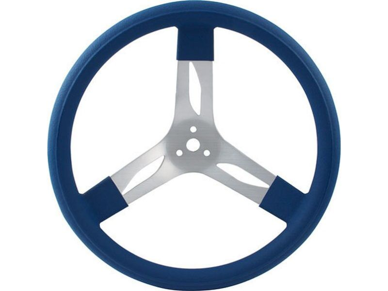 Quickcar Racing Products 17 inches Steering Wheel Alum Blue