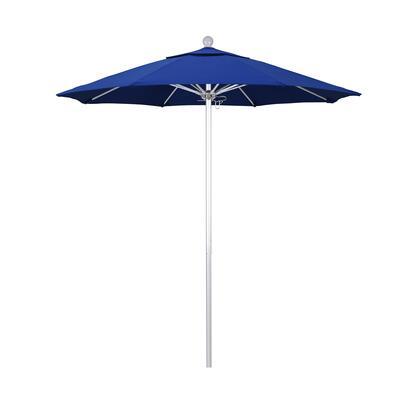 ALTO758002-SA01 7.5' Venture Series Commercial Patio Umbrella With Silver Anodized Aluminum Pole Fiberglass Ribs Push Lift With Pacifica Pacific Blue