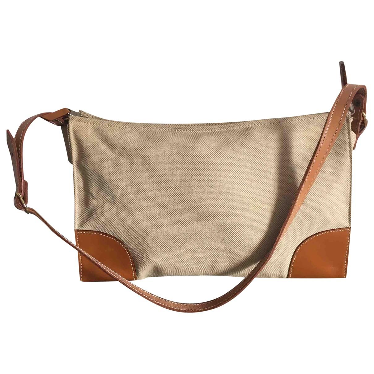 Etro N Beige Linen Clutch bag for Women N