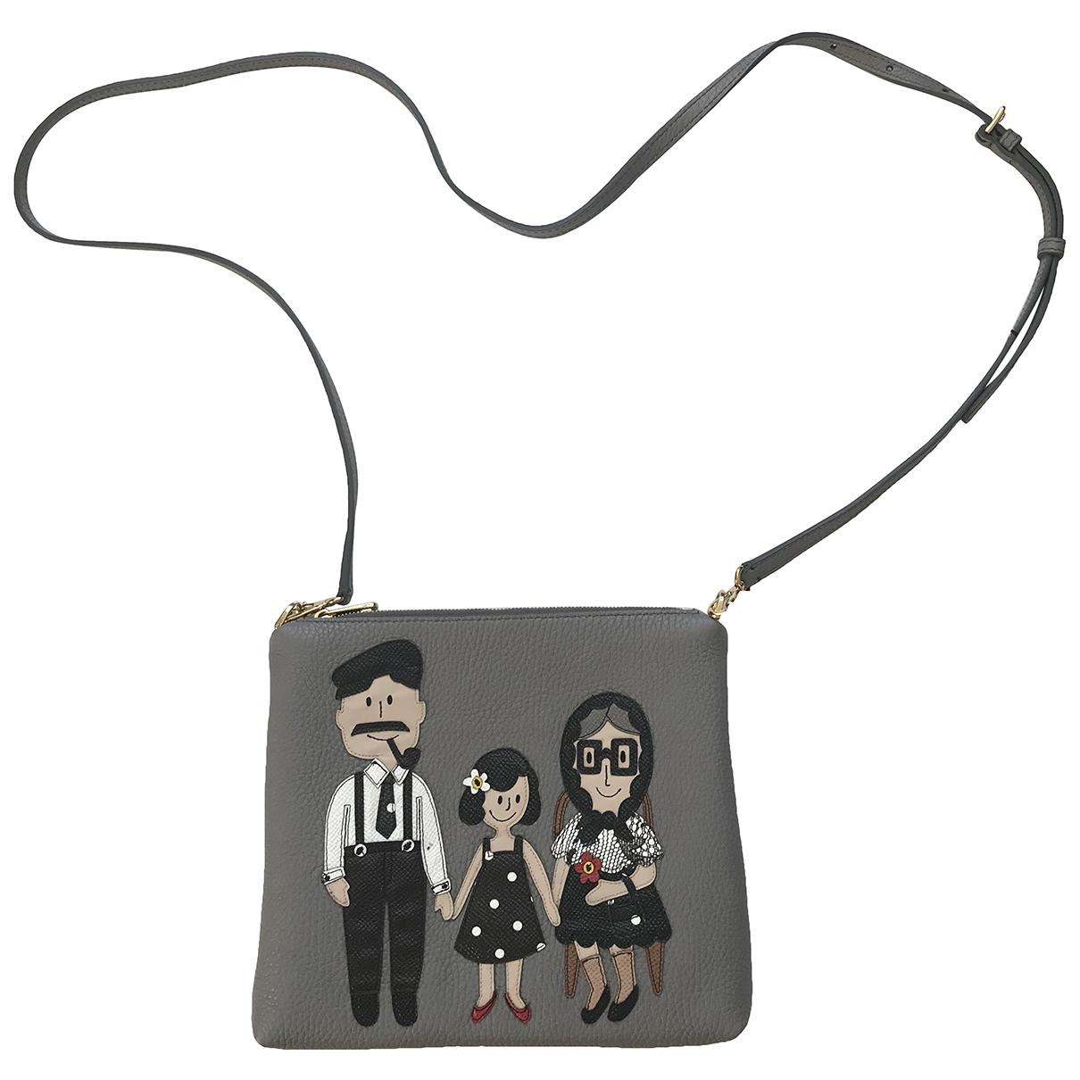 Dolce & Gabbana - Sac a main   pour femme en cuir - gris
