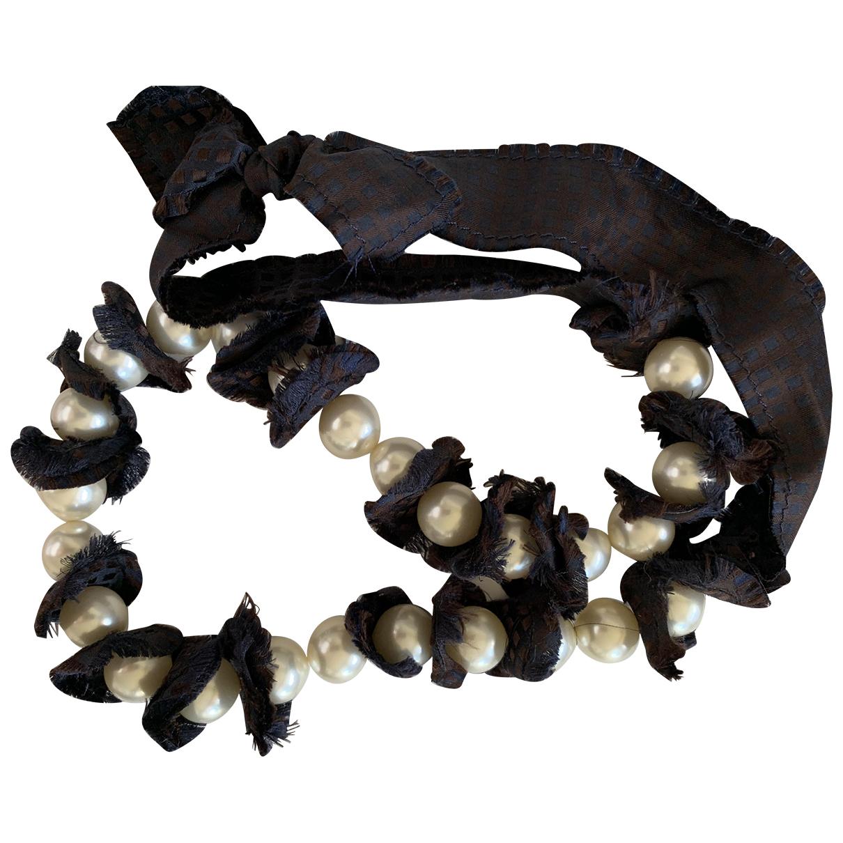 Lanvin \N Kette in  Schwarz Perle