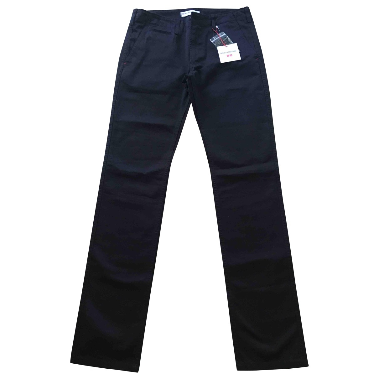 Uniqlo \N Navy Cotton Trousers for Women 36 FR