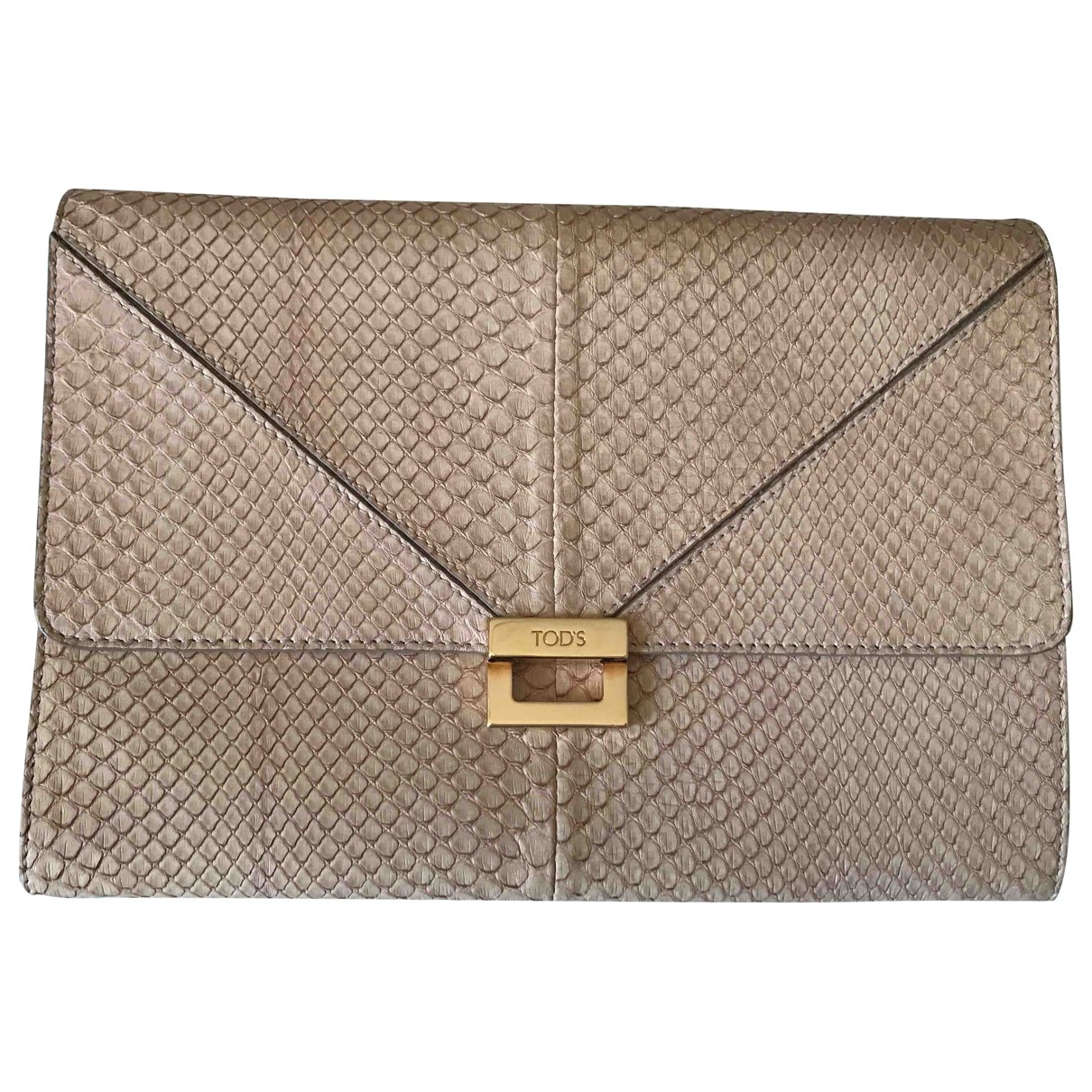 Tod's \N Pink Python Clutch bag for Women \N