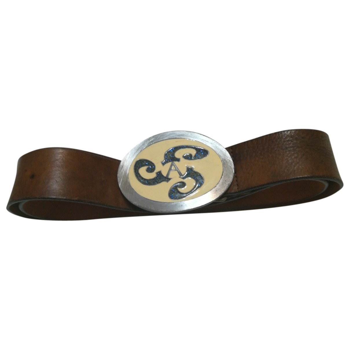 Armani Jeans \N Brown Leather belt for Women L International