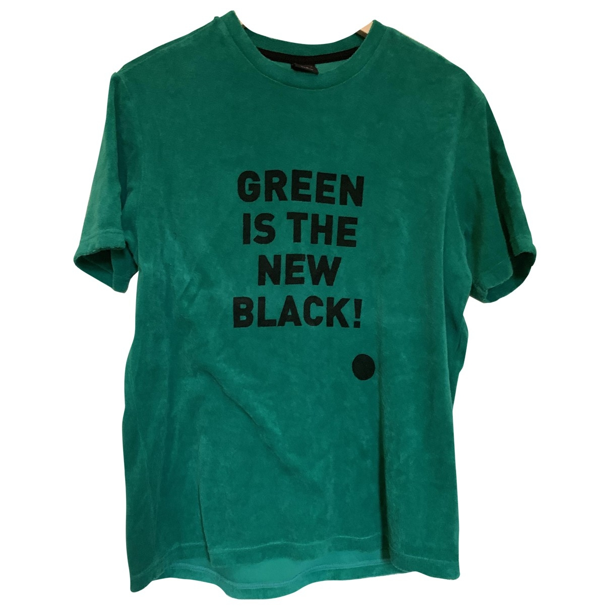 Non Signé / Unsigned Oversize Green Cotton  top for Women M International