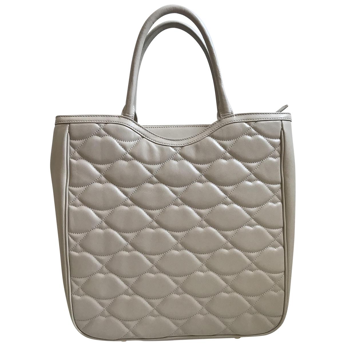 Lulu Guinness \N Handtasche in  Grau Leder