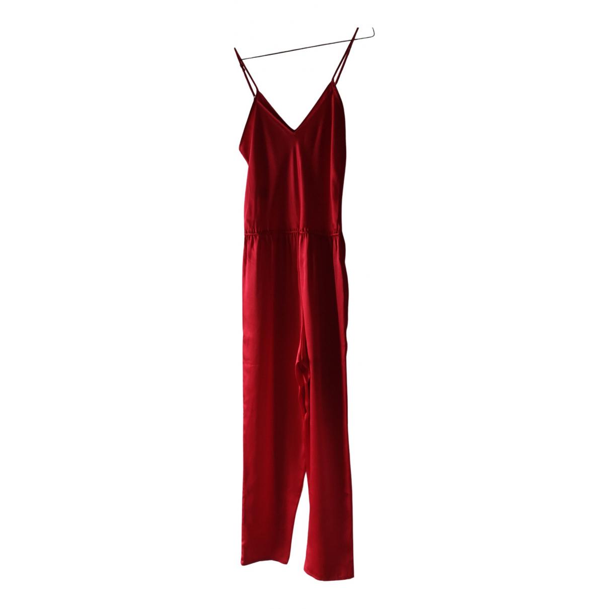 Mes Demoiselles ... - Combinaison   pour femme en soie - rouge