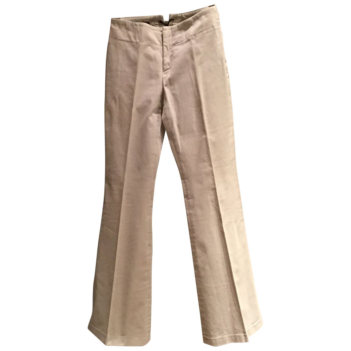 Gucci N Beige Cotton Trousers for Women 40 IT