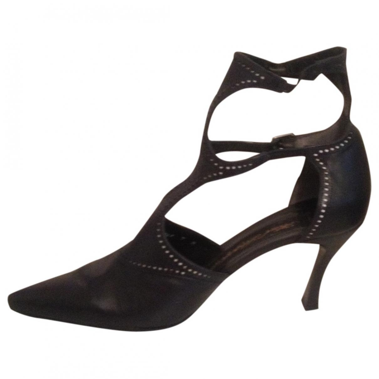 Karl Lagerfeld - Escarpins   pour femme en cuir - noir