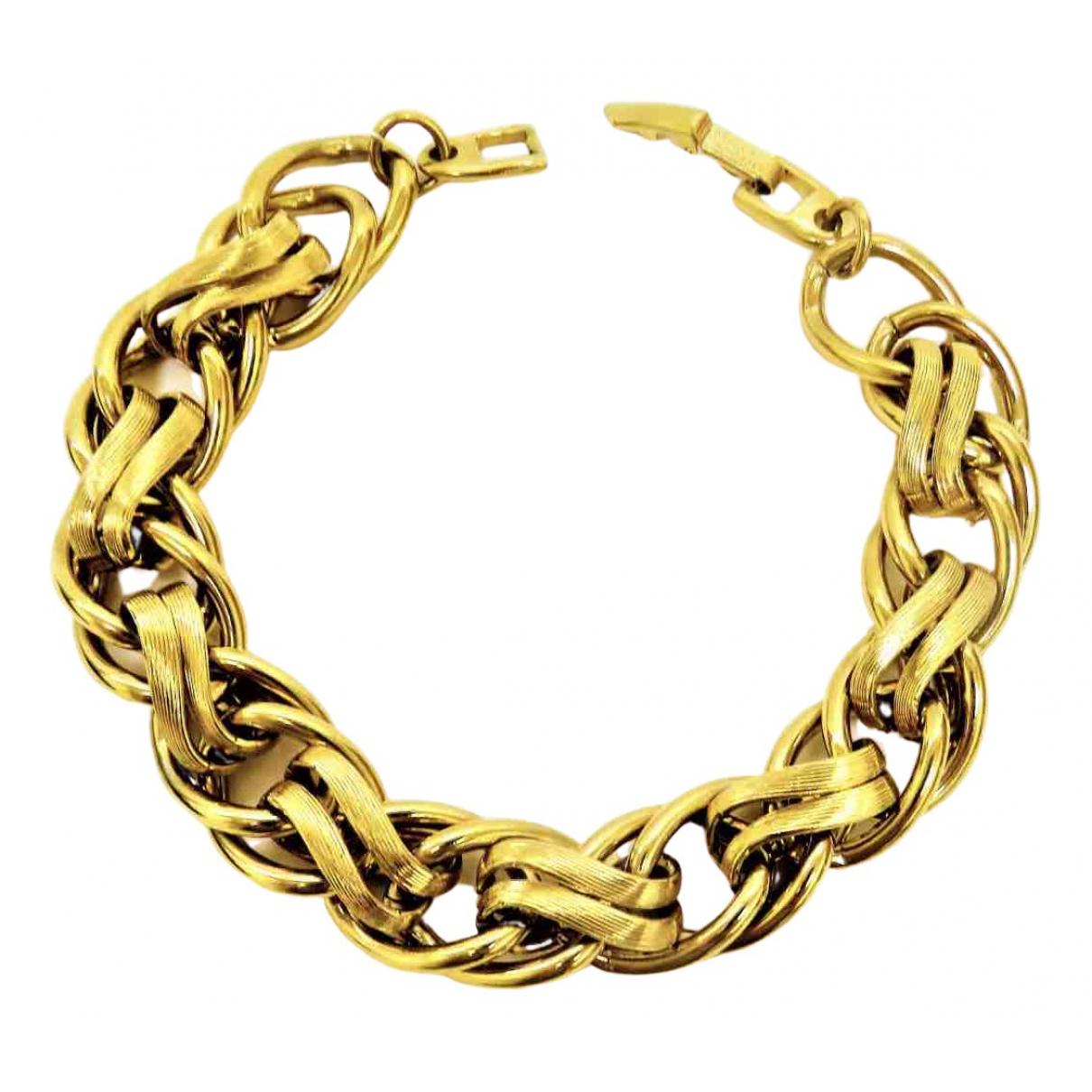 Non Signé / Unsigned Art Déco Gold Metal bracelet for Women N