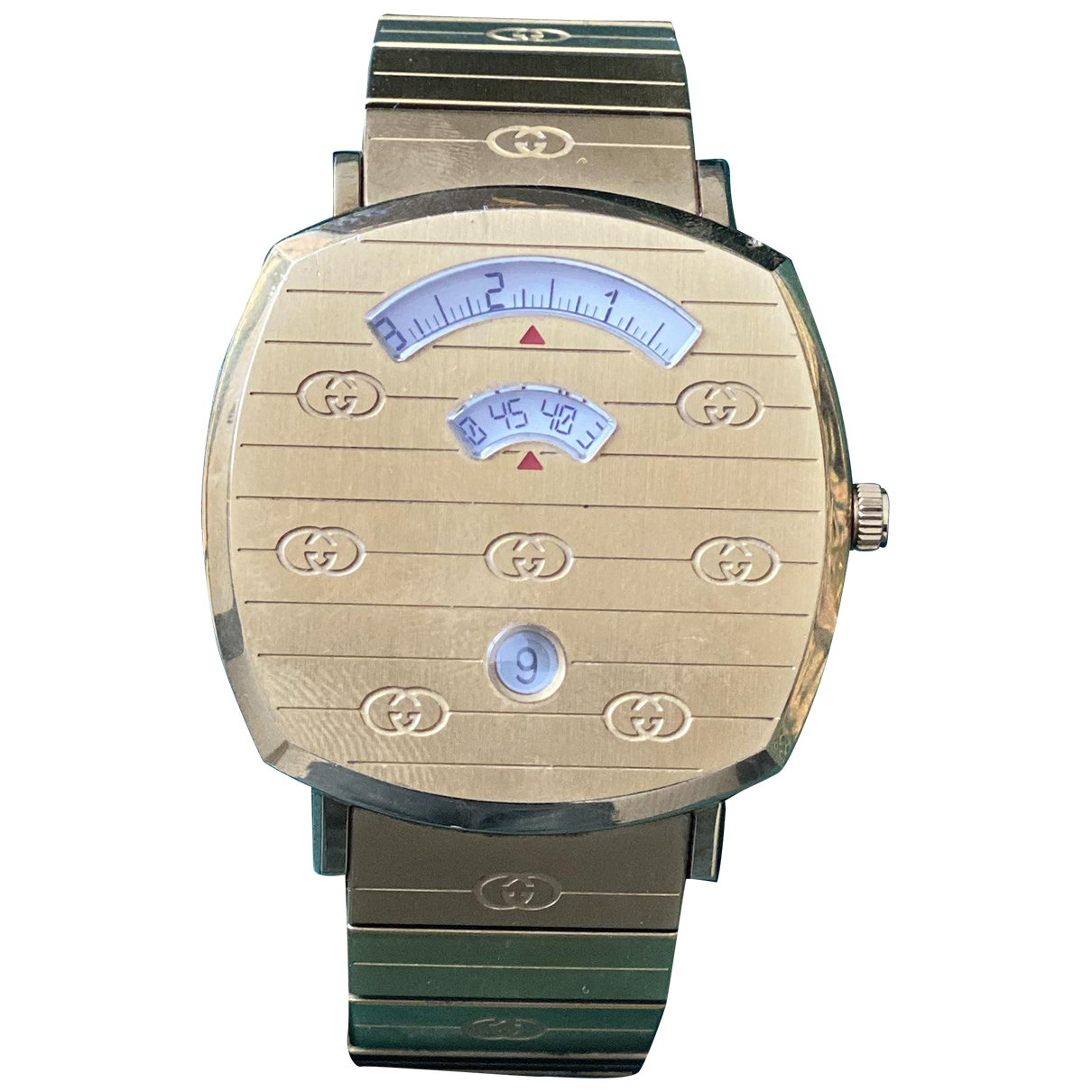 Gucci N Gold Gold plated watch for Men N