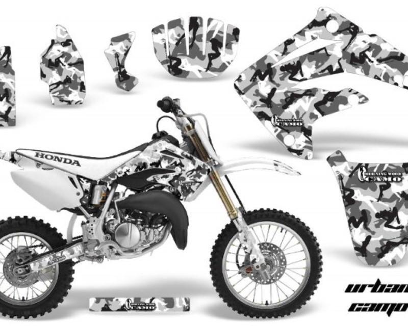 AMR Racing Dirt Bike Graphics Kit MX Decal Wrap For Honda CR85 CR 85 2003-2007 URBAN CAMO WHITE