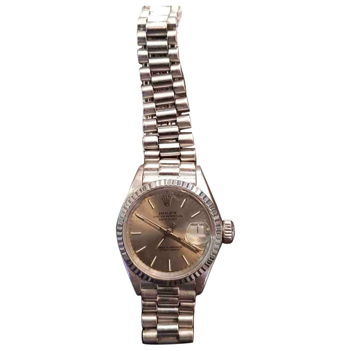Rolex Lady DateJust 28mm Silver gold and steel watch for Women N