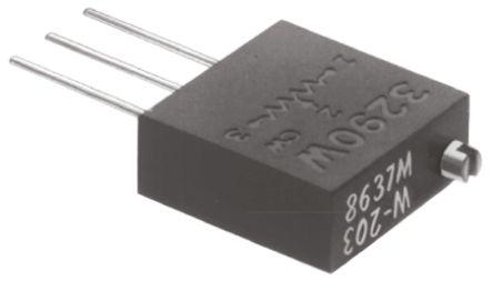 Bourns 5kΩ, Through Hole Trimmer Potentiometer 1W Top Adjust , 3290