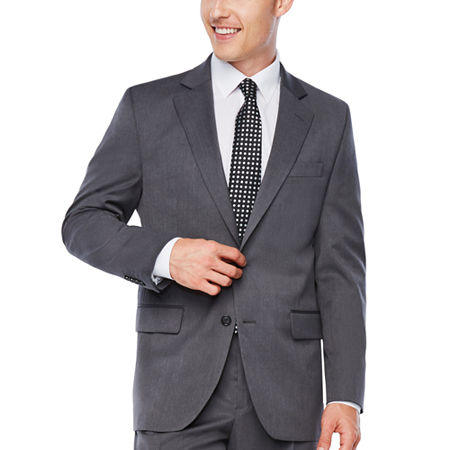 Stafford Travel Wool Blend Stretch Classic Fit Suit Jacket, 52 Long, Gray