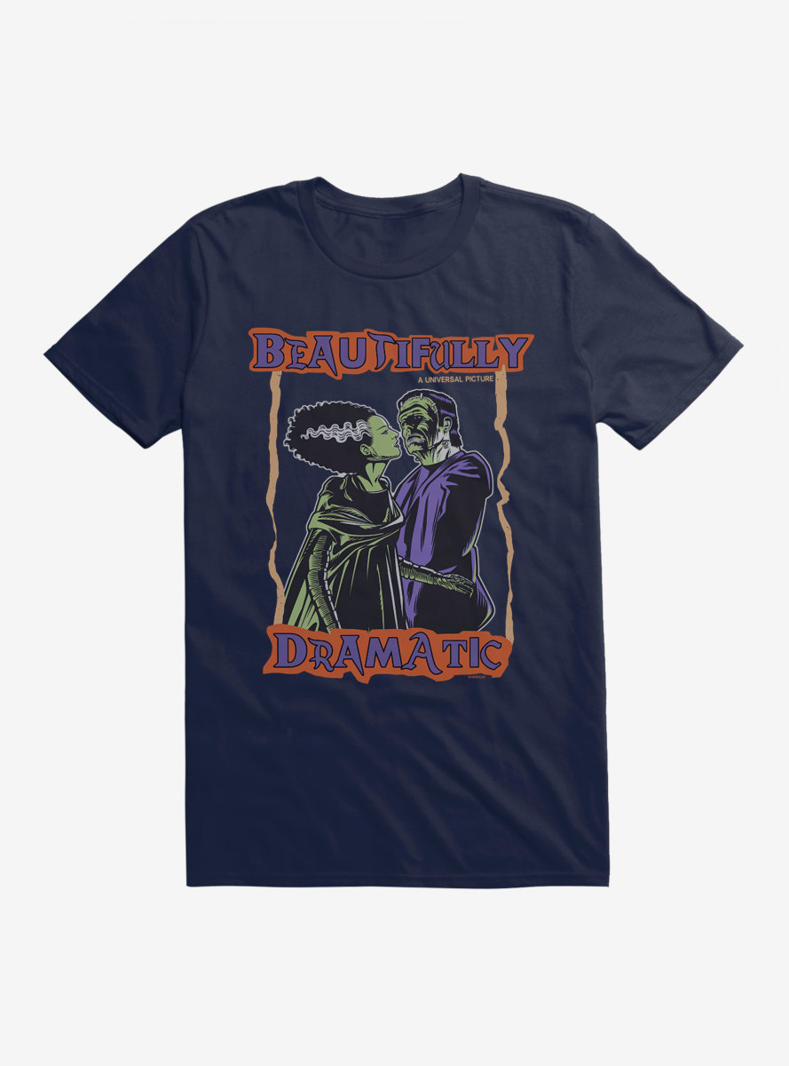 Universal Monsters Bride Of Frankenstein Beautifully Dramatic T-Shirt