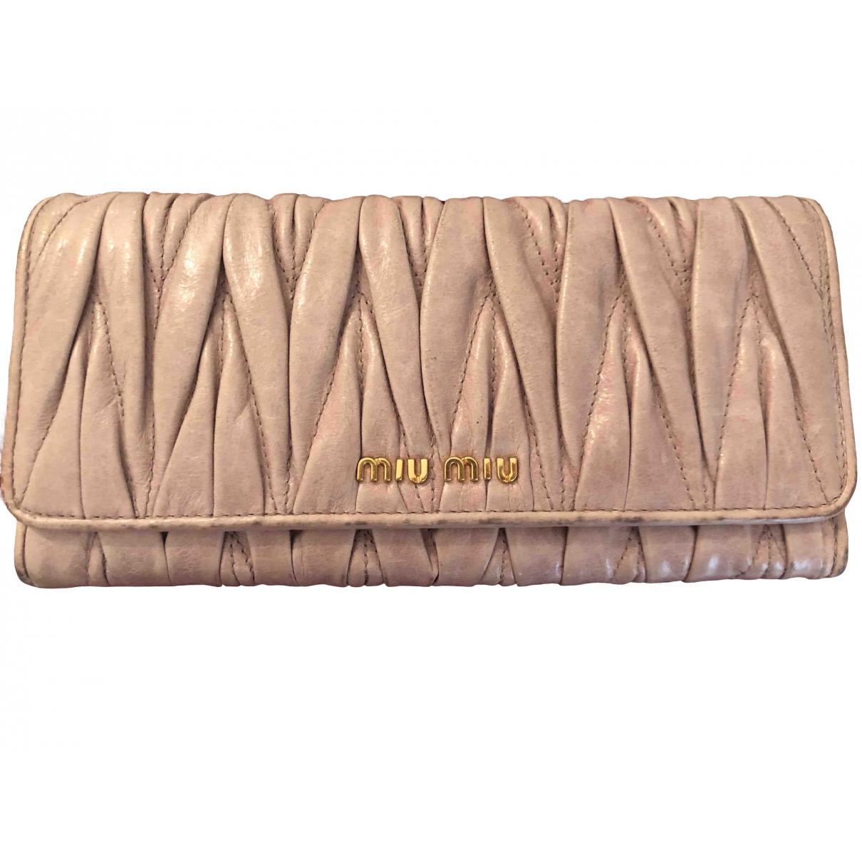Miu Miu \N Pink Leather wallet for Women \N