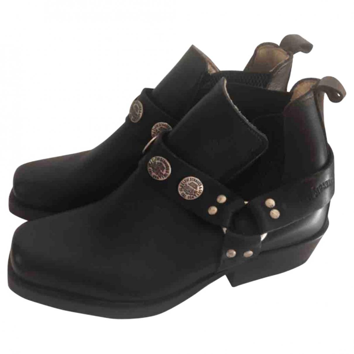 Levis - Boots   pour femme en cuir - noir