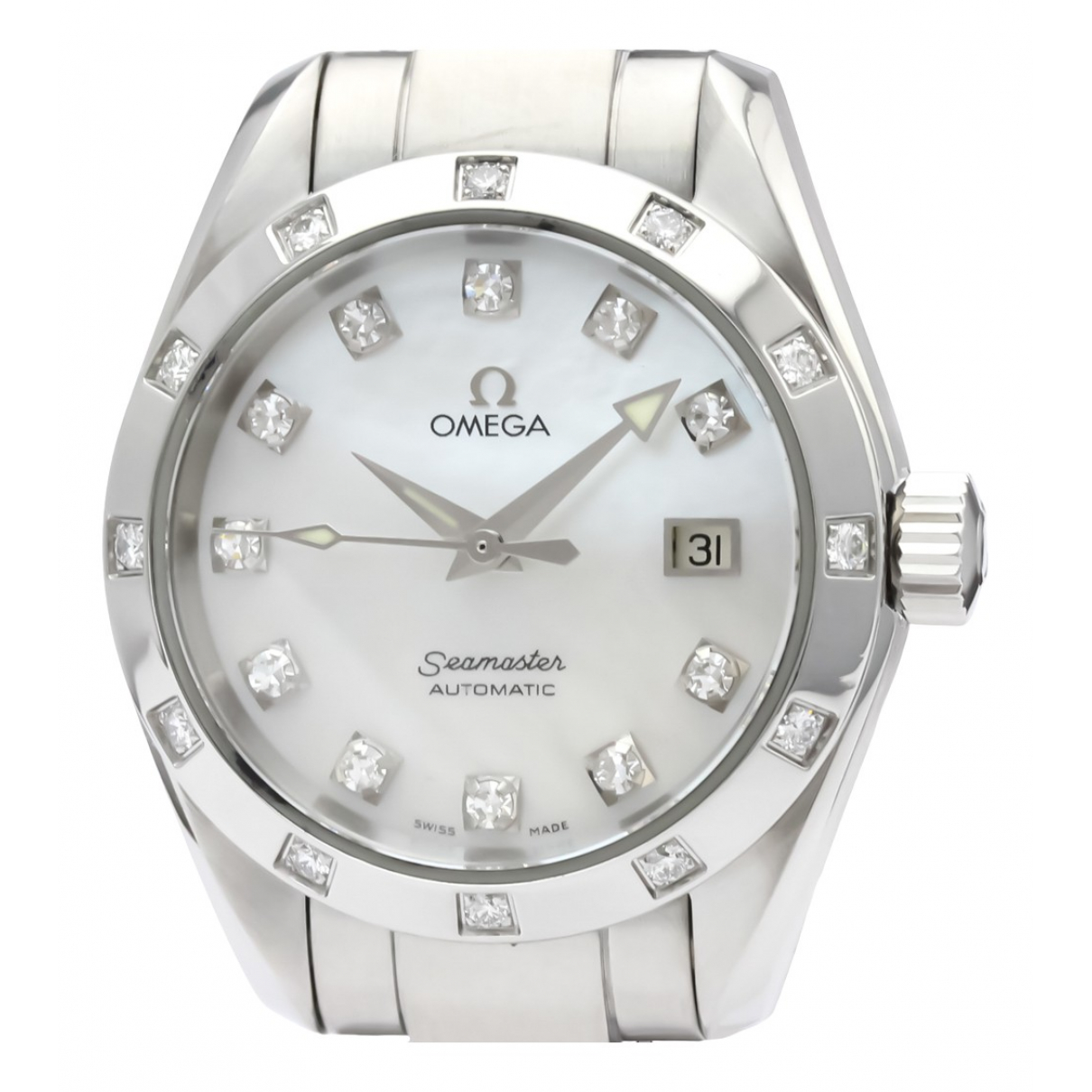 Omega Seamaster Uhr in  Weiss Stahl