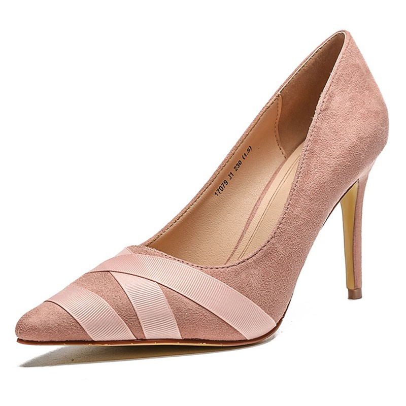 Ericdress Pointed Toe Slip-On Thread Western Pumps