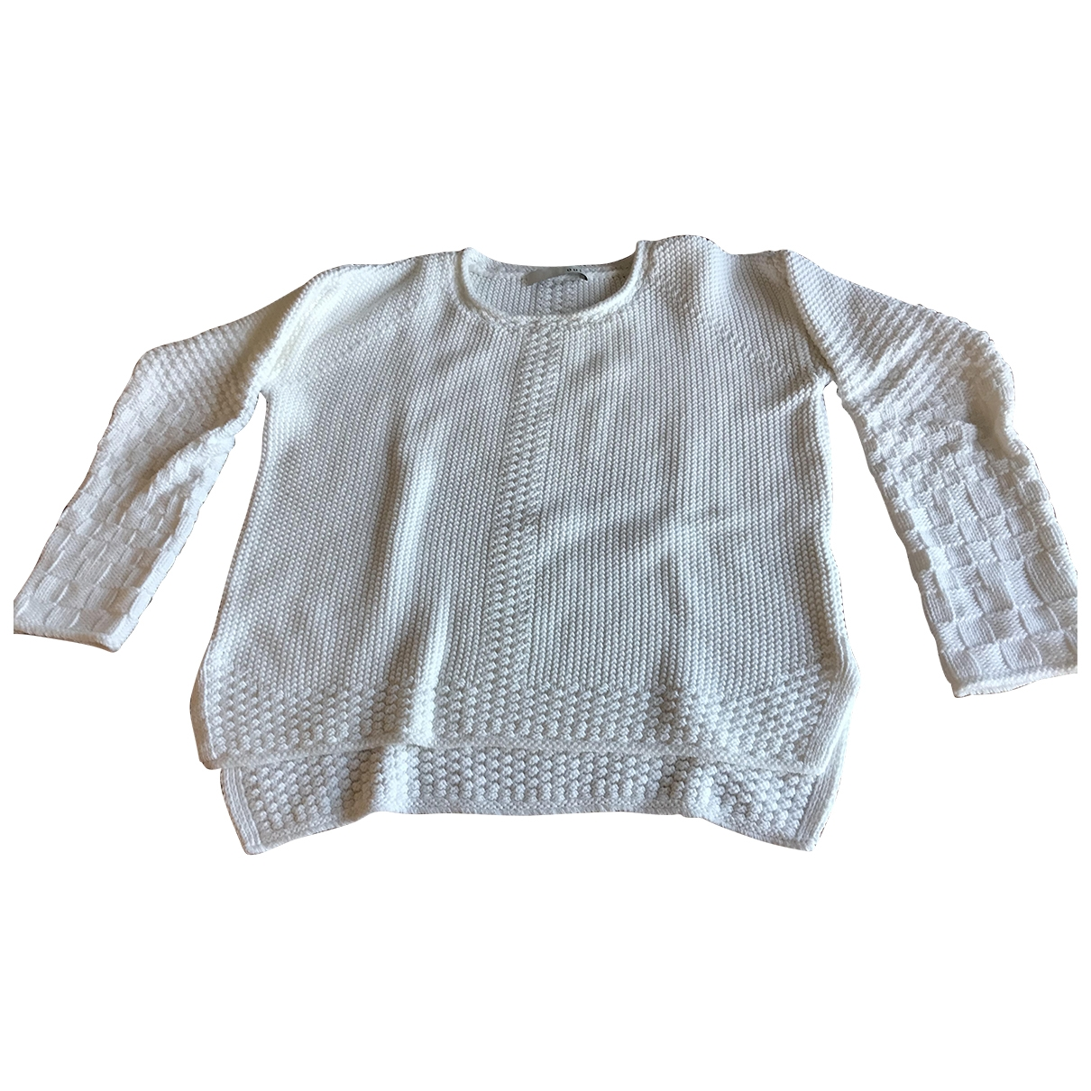 Non Signé / Unsigned \N White Cotton Knitwear for Women 42 FR