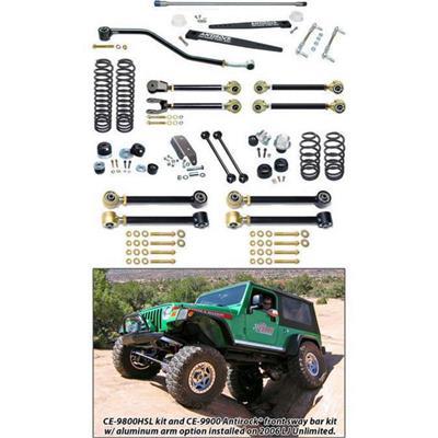 RockJock Johnny Joint 4 Inch Suspension Lift Kit with Antirock - CE-9801HSL