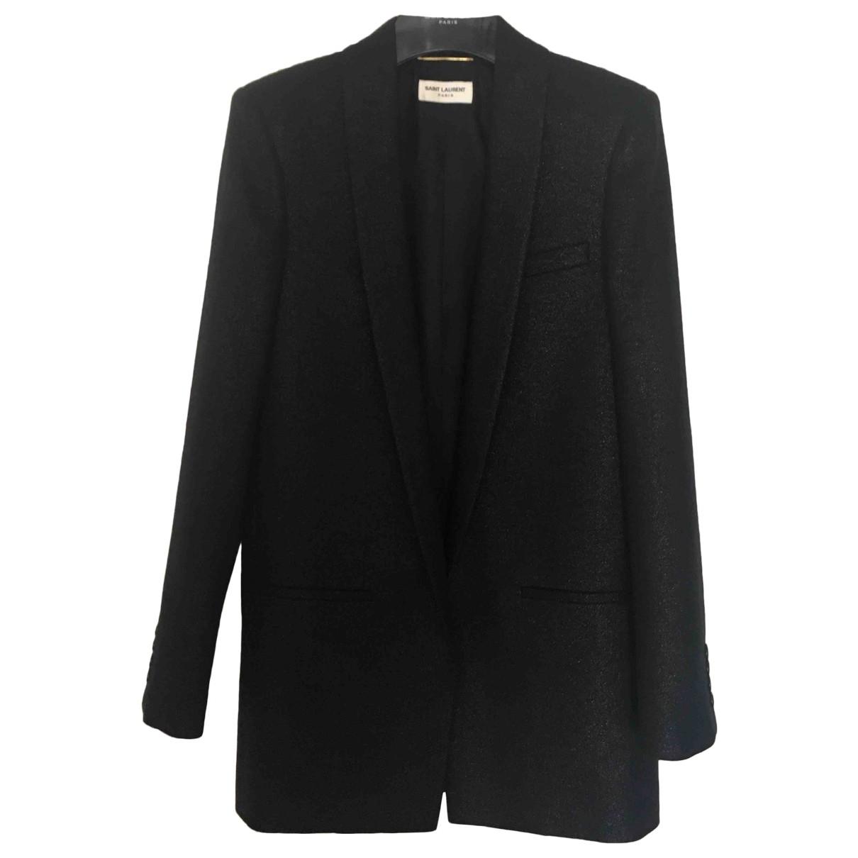 Saint Laurent \N Black Wool jacket for Women 38 FR