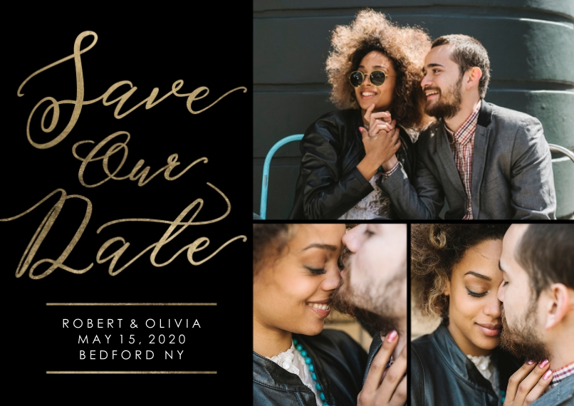Save the Date Flat Matte Photo Paper Cards with Envelopes, 5x7, Card & Stationery -Save the Date Happiness