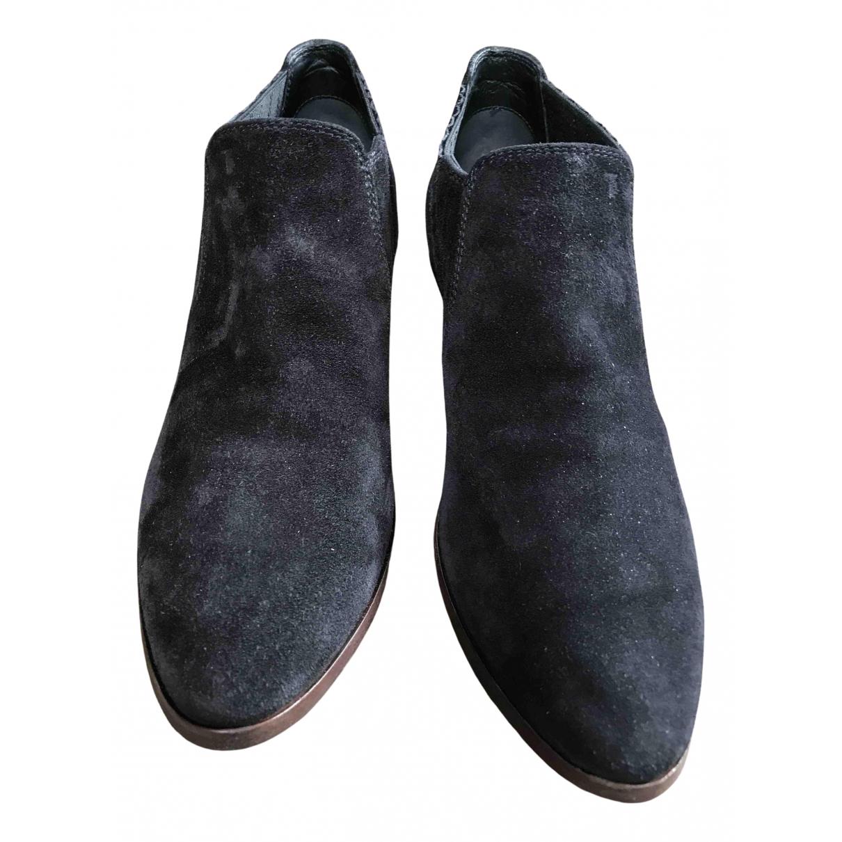 Tods - Boots   pour femme en suede - noir