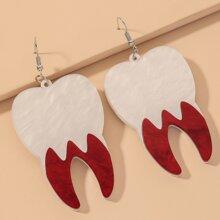 Teeth Charm Drop Earrings