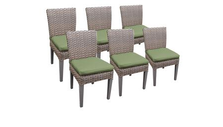 Florence Collection FLORENCE-TKC290b-ADC-3x-C-CILANTRO 6 Side Chairs - Grey and Cilantro