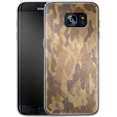 Samsung Galaxy S7 Edge Silikon Handyhuelle - Camo Bark von caseable Designs