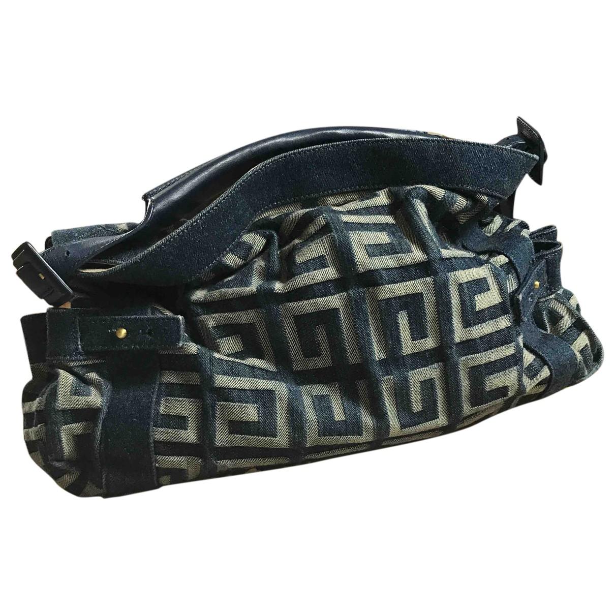 Givenchy \N Handtasche in  Blau Leinen