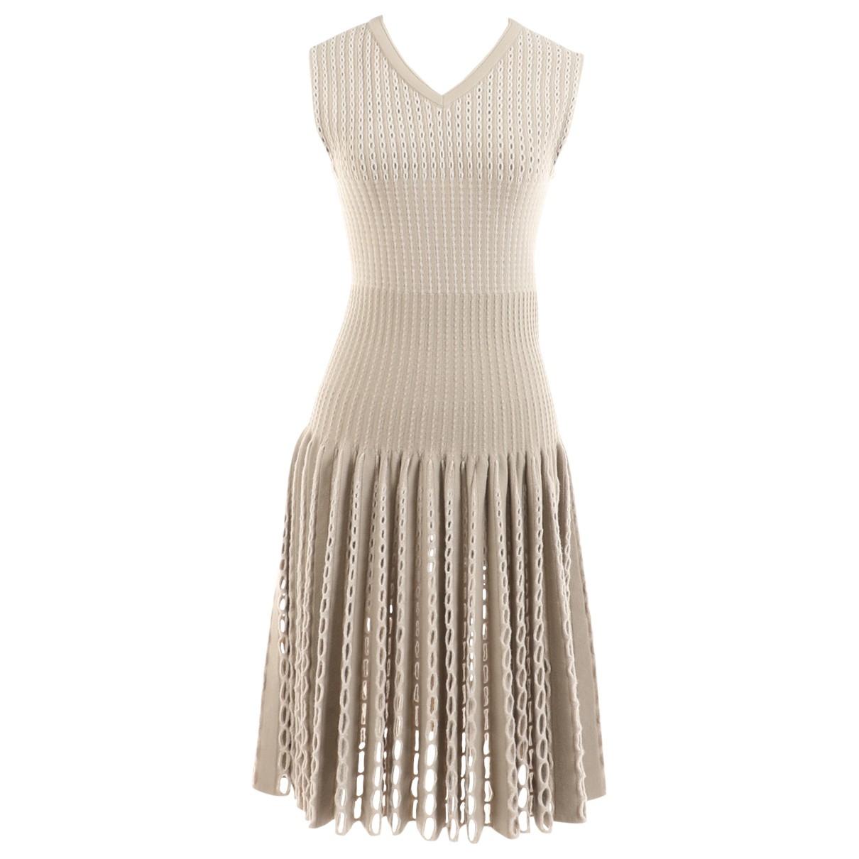 Alaia \N Kleid in  Grau Wolle