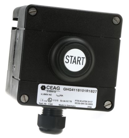 CEAG Push Button Control Station, IP65, IP67