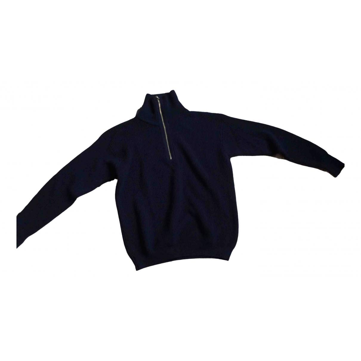 Giorgio Armani \N Pullover.Westen.Sweatshirts  in  Blau Wolle