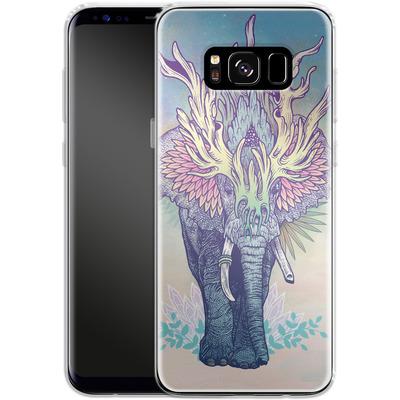 Samsung Galaxy S8 Silikon Handyhuelle - Spirit Elephant von Mat Miller