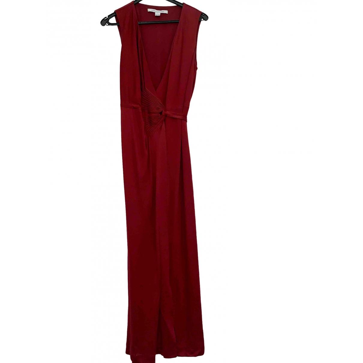 Diane Von Furstenberg \N Kleid in  Bordeauxrot Viskose
