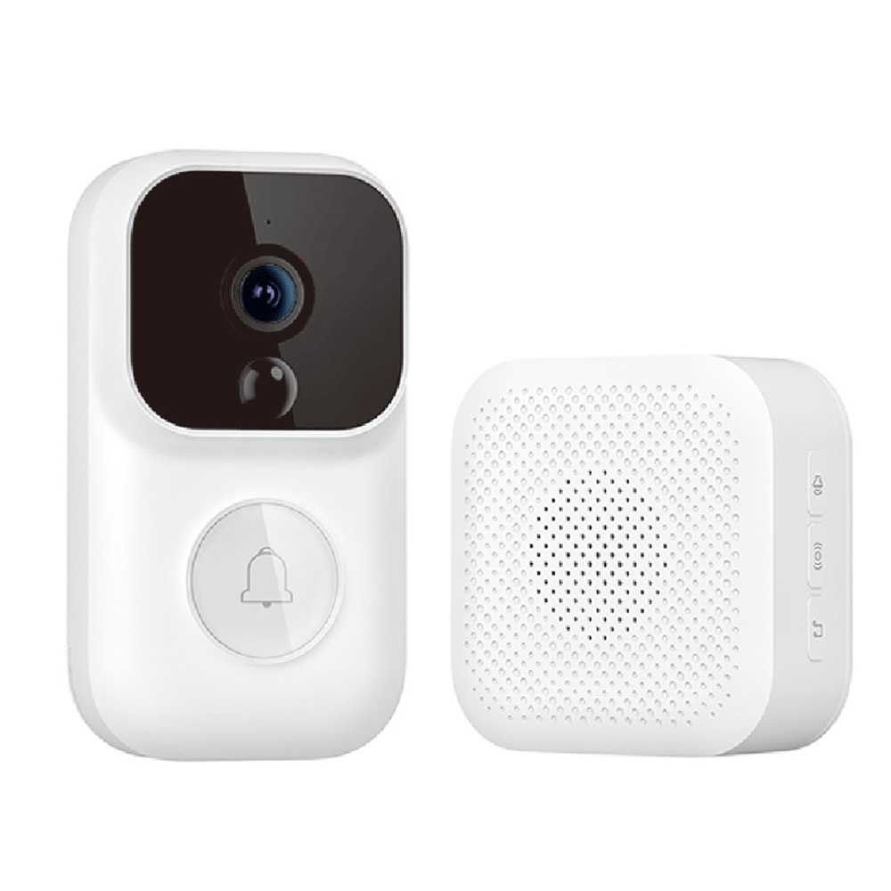 Dingling S Enhanced Version Smart Wireless Doorbell Set White