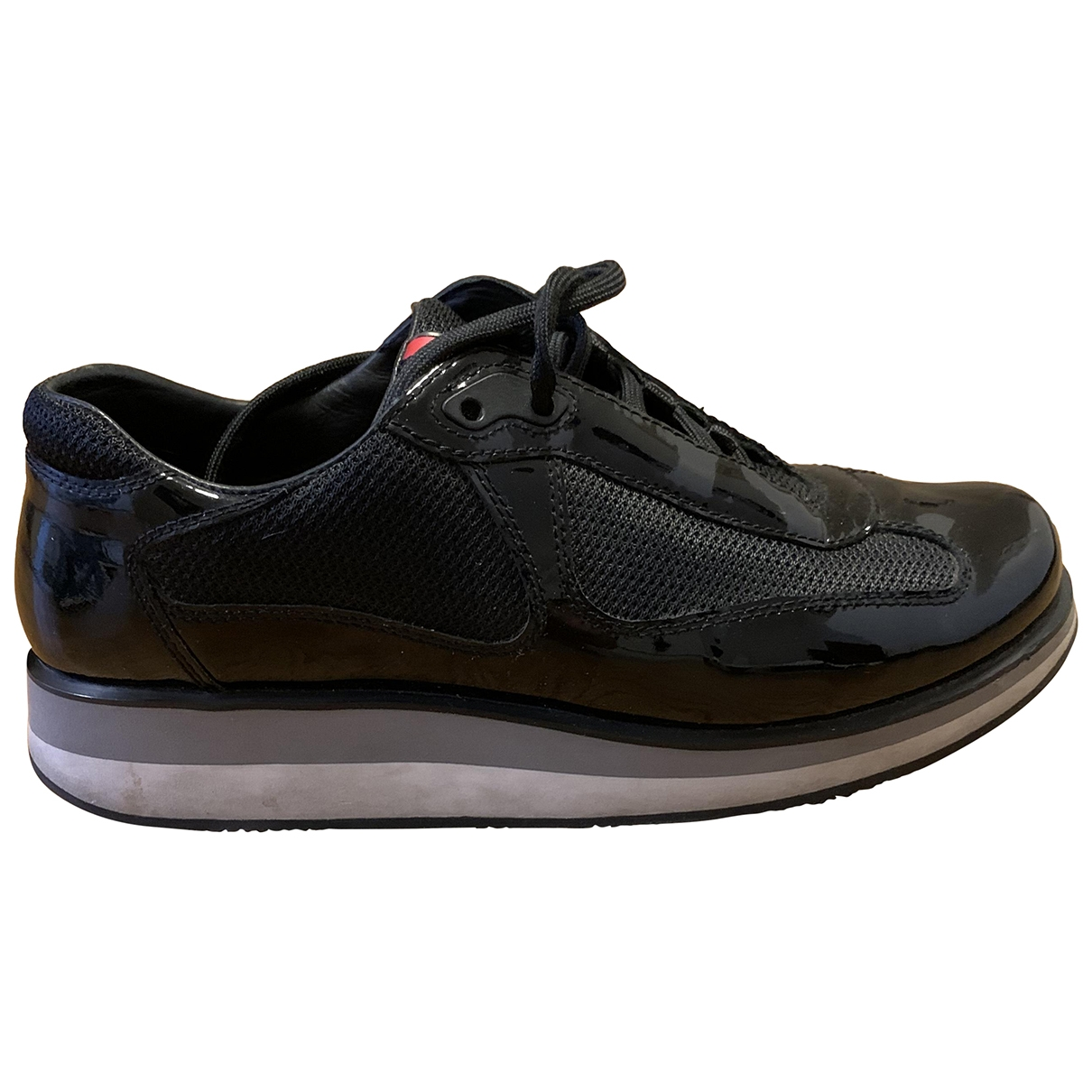 Prada \N Black Patent leather Trainers for Women 39.5 EU
