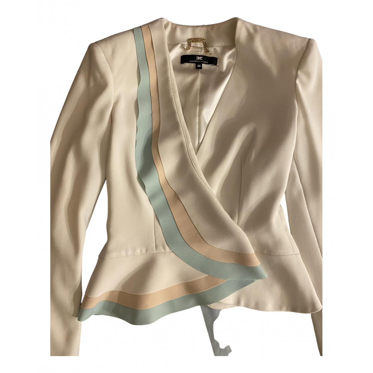 Elisabetta Franchi N White jacket for Women 38 IT