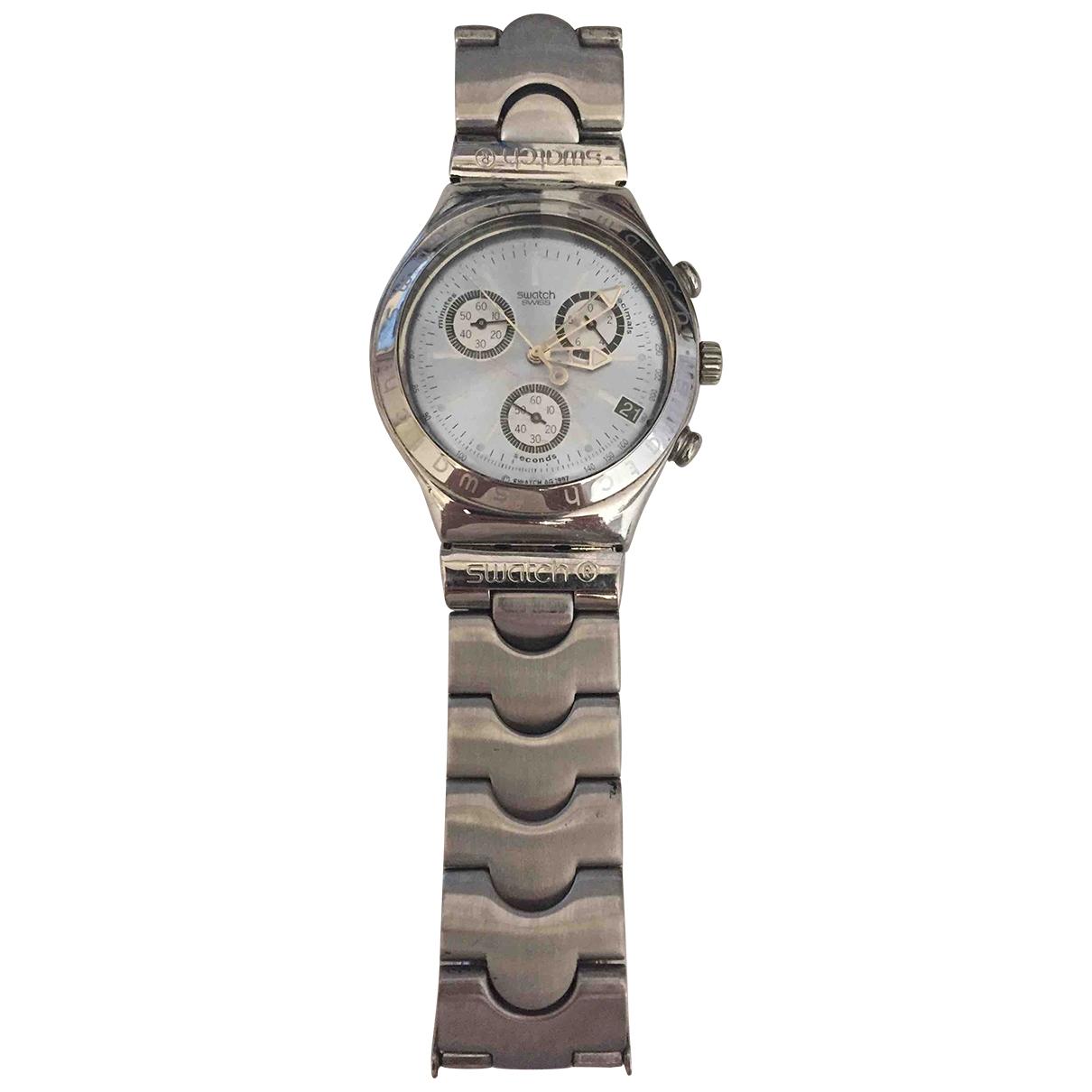 Swatch \N Uhr in  Metallic Stahl